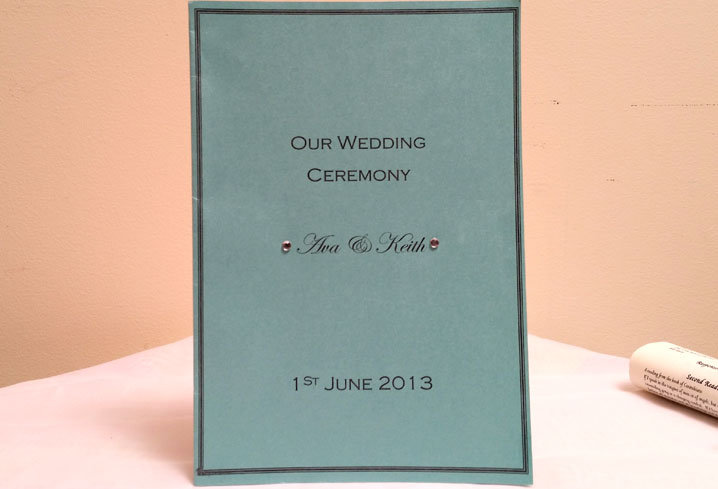CEREMONY<br /> BOOKLETS