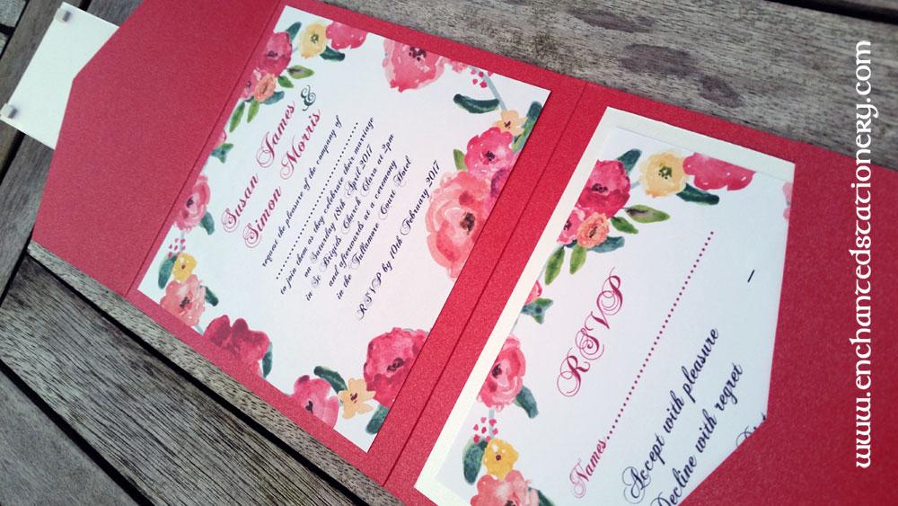 diy pocketfold invitations enchanted stationery